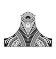 tattoo design decorative head bird vector image