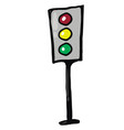 traffic light sign on white background vector image