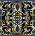 vintage baroque 3d seamless pattern striped vector image vector image
