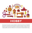 vintage hobby based on handicraft promotional info vector image vector image