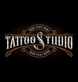 vintage lettering of tattoo studio