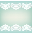 White lace edgings vector image vector image