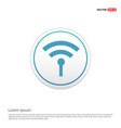 wifi icon - white circle button vector image