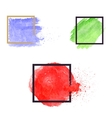 Set of brush stains Abstract vector image