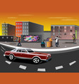 a ghetto with black people vector image