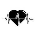 heart pulse icon simple black style vector image