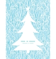 abstract frost swirls texture Christmas tree vector image vector image