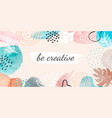 abstract watercolor banner creative poster vector image vector image
