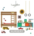 Baby room interior vector image