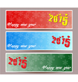 banner set of happy new year vector image