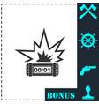 big bang flash icon flat vector image