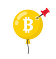 bitcoin bubble burst concept cryptocurrency vector image