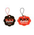 black friday sales tag shopping offer discount vector image