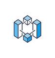 blockchain crypto blue icon cryptocurrency vector image