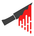 bloody knife flat icon symbol vector image vector image