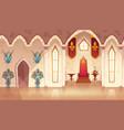 castle throne hall interior of royal vector image vector image