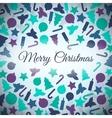 Christmas symbols card vector image vector image