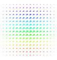 cigarette smoke shape halftone spectral pattern vector image vector image