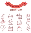 Collection icon of Christmas set vector image vector image
