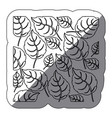 coontour leaves background icon vector image