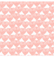 coral hearts on white background vector image vector image