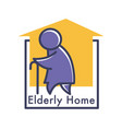 elderly care or nursing home isolated icon senior vector image