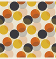 geometric circle dot seamless pattern vector image