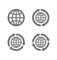 globe earth icons as a symbol travelling vector image vector image