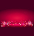 glow wave or light aura on red bokeh background vector image