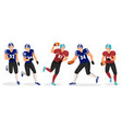 gridiron players set american football game hobby vector image vector image