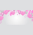 heart balloon valentines day banner template with vector image