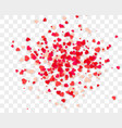 heart confetti falling down isolated vector image vector image