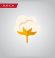 isolated cotton flat icon flower element vector image