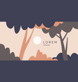 landscape with a tree in a flat modern style vector image