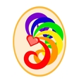 LGBT flag colors love symbol vector image