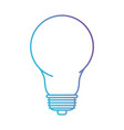 light bulb icon in color gradient silhouette from vector image vector image