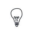 light bulb lamp vector image