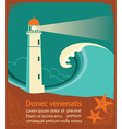Lighthouse retro poster for text vector image vector image