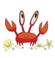 little crab vector image vector image