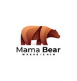 logo mama bear gradient colorful style vector image