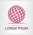 logo stylized spherical surface with abstract vector image vector image
