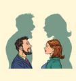 man and woman conflict quarrel concept vector image vector image
