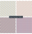 Mosaic colorful seamless patterns vector image vector image