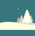 pine trees in vintage colour vector image vector image