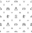 position icons pattern seamless white background vector image vector image