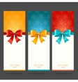 Present Card with Bow Set vector image vector image