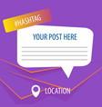 purple post for social services banner template vector image