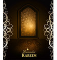 ramadan background mosque window vector image
