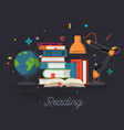 reading education flat design vector image