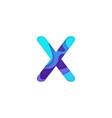 realistic paper cut letter x vector image